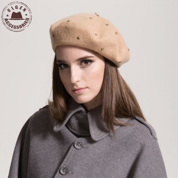 painter rivet hat gray wool trench coat