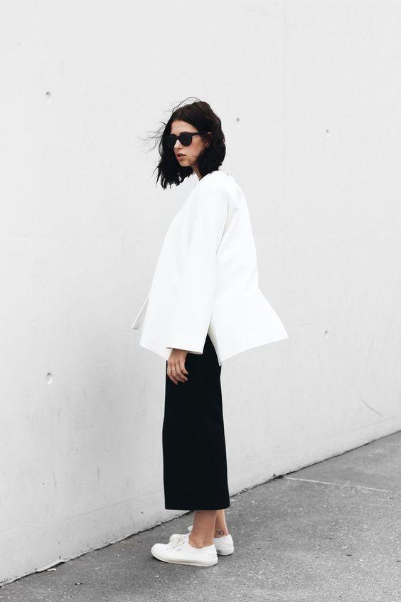 black culottes minimalist