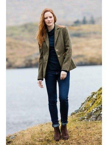 green tweed jacket for women