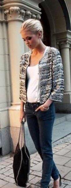 tweed jacket with white vest pants