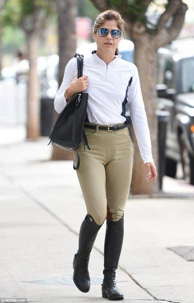 white long sleeve polo shorts