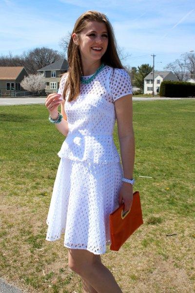 white windy dress equipment
