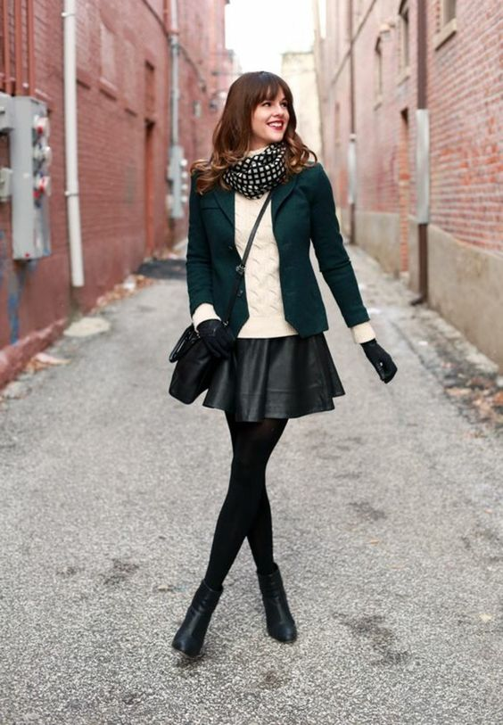 black skater emerald green blazer