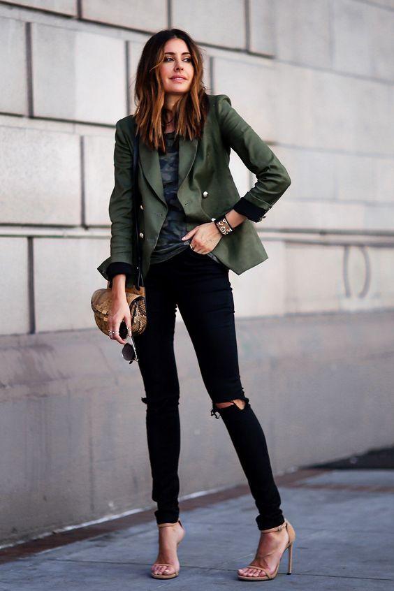 khaki jacket blazer