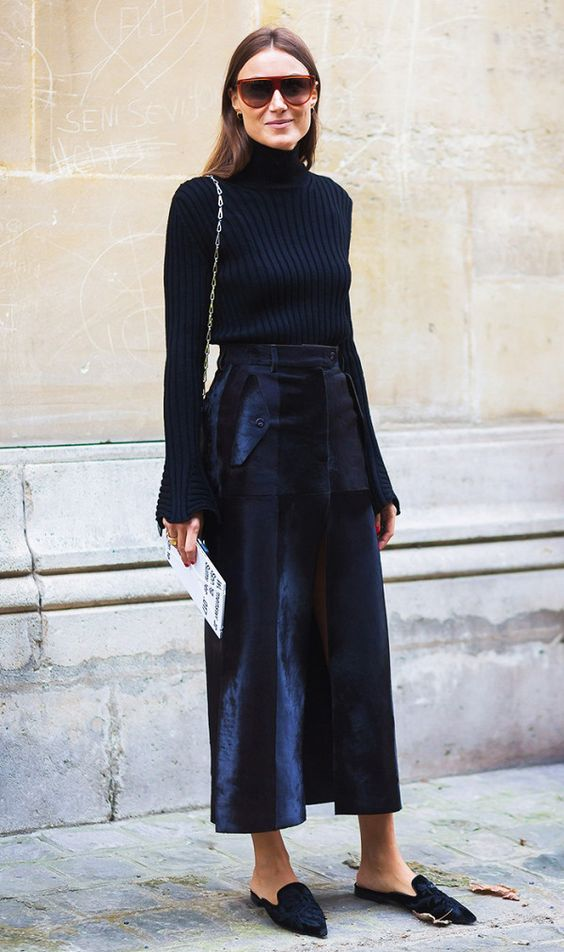 blue velvet turtleneck pants