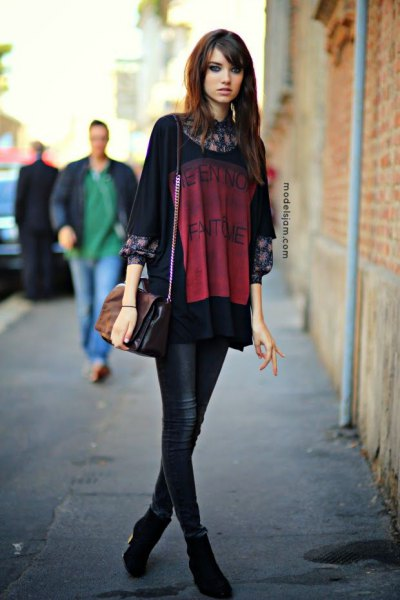 black print great t-shirt outfit