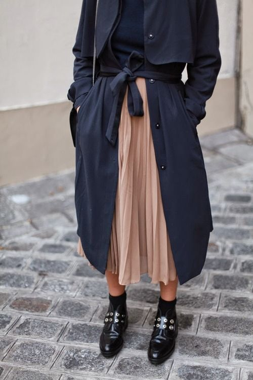 chiffon dress trench coat