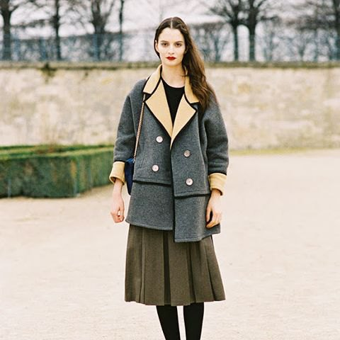 fleece skirt gray wool trench coat