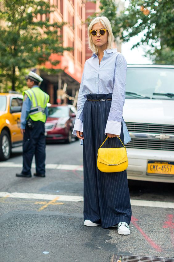 yellow-blue outfit bag yellow