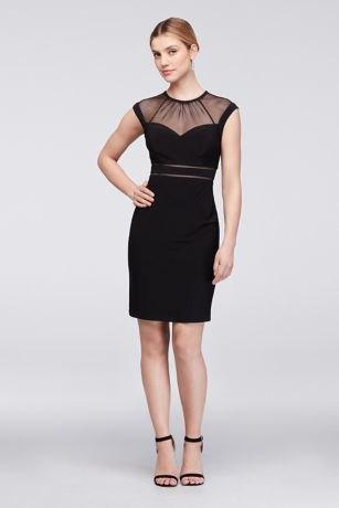 black dress clean collar