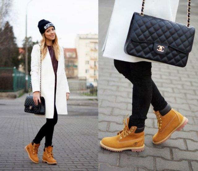 white long skirt black leggings boots