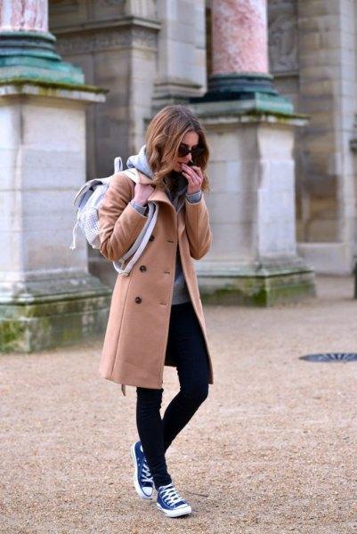 long fleece jacket black skinny jeans high top converse