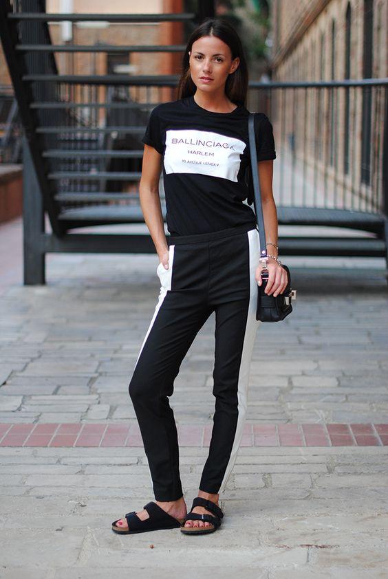 black birekstock stock pants