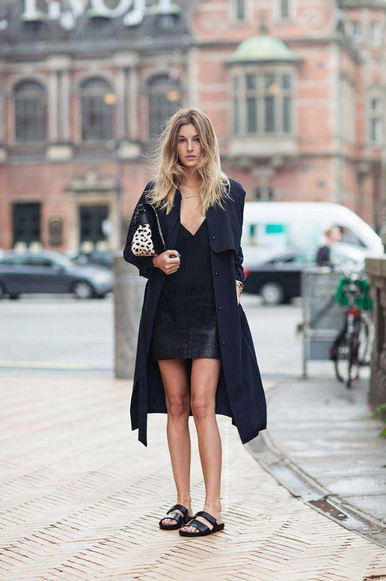 black birekstock stock long jacket