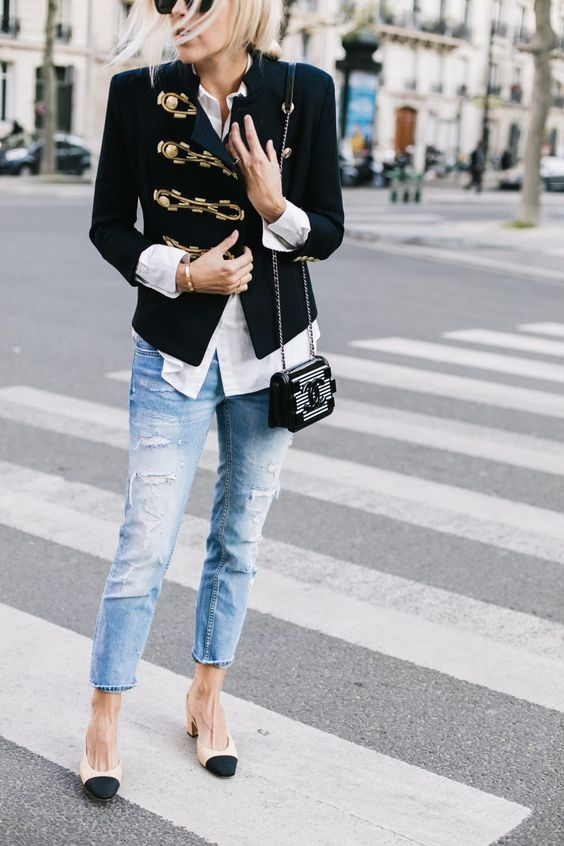 military jacket jeans