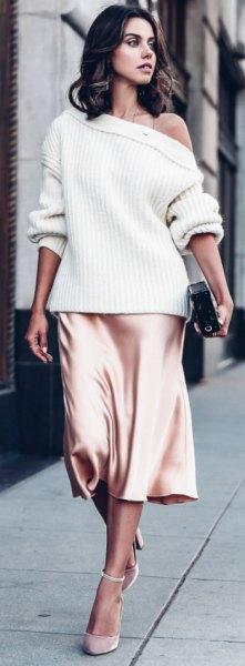 white from a silk skirt