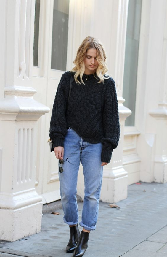 knitted Chelsea boots