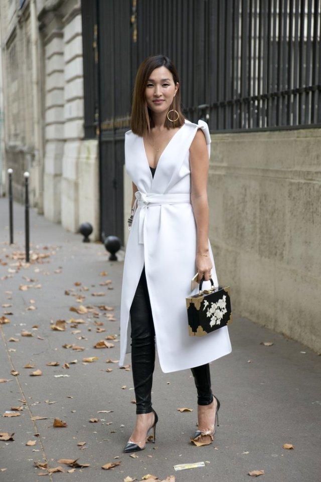 leggings for working white coat