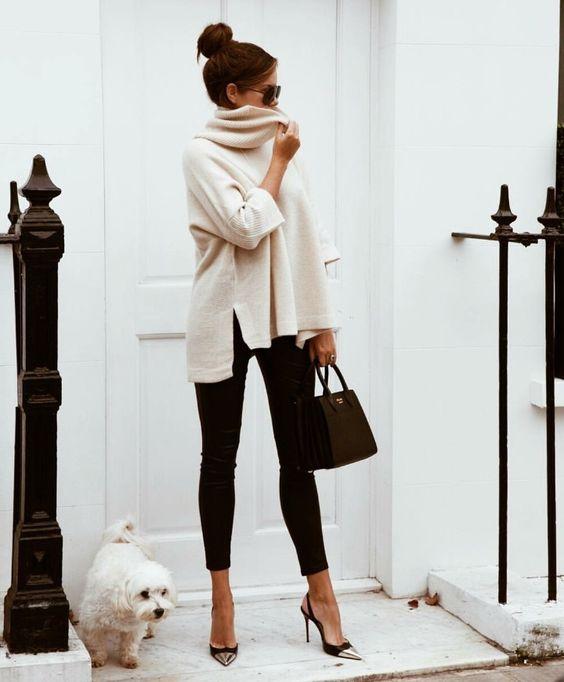 leggings for working beige tunic