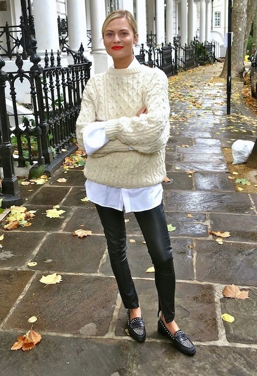 leggings to sweater
