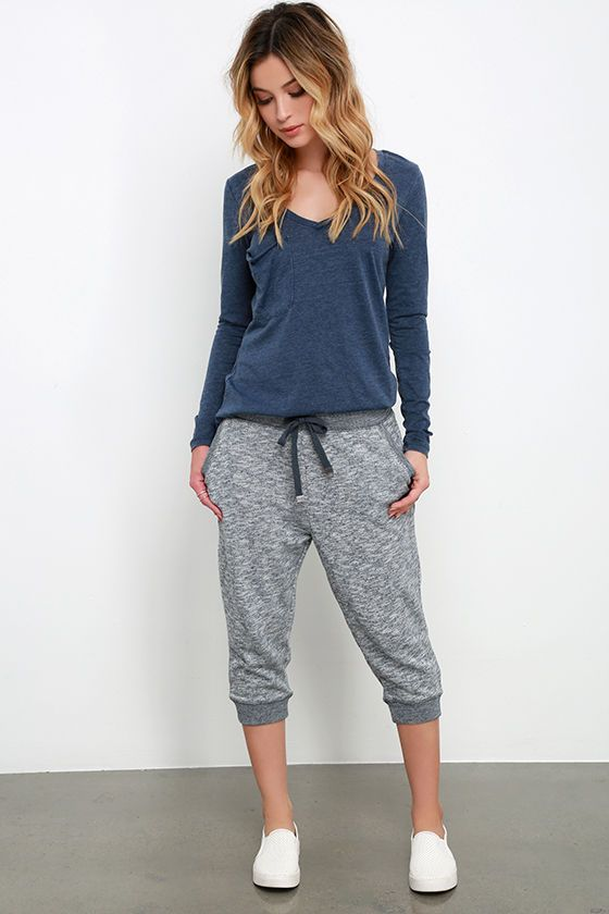 cropped joggers long-sleeved tee