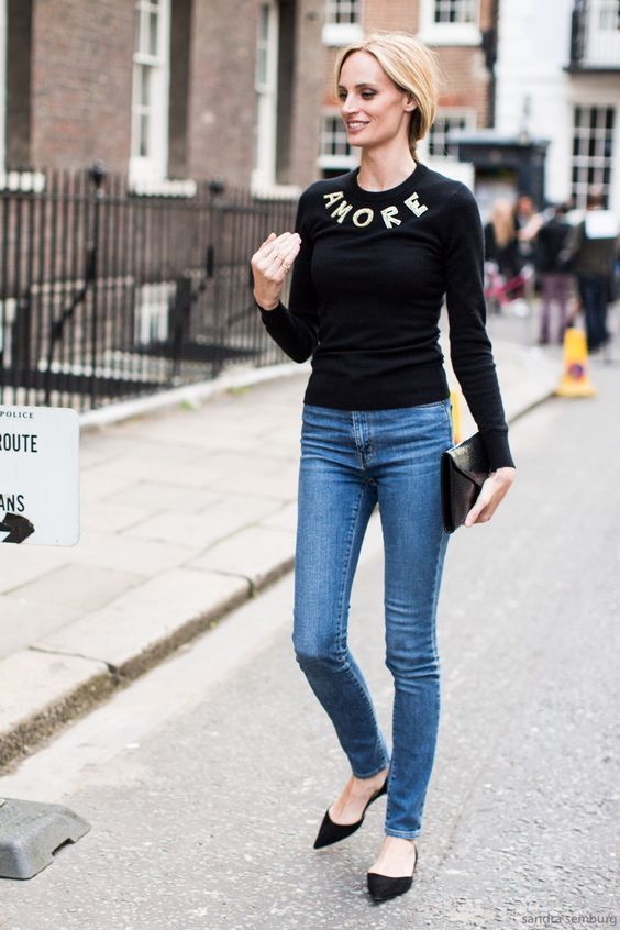 pointed toe shoes black sweater