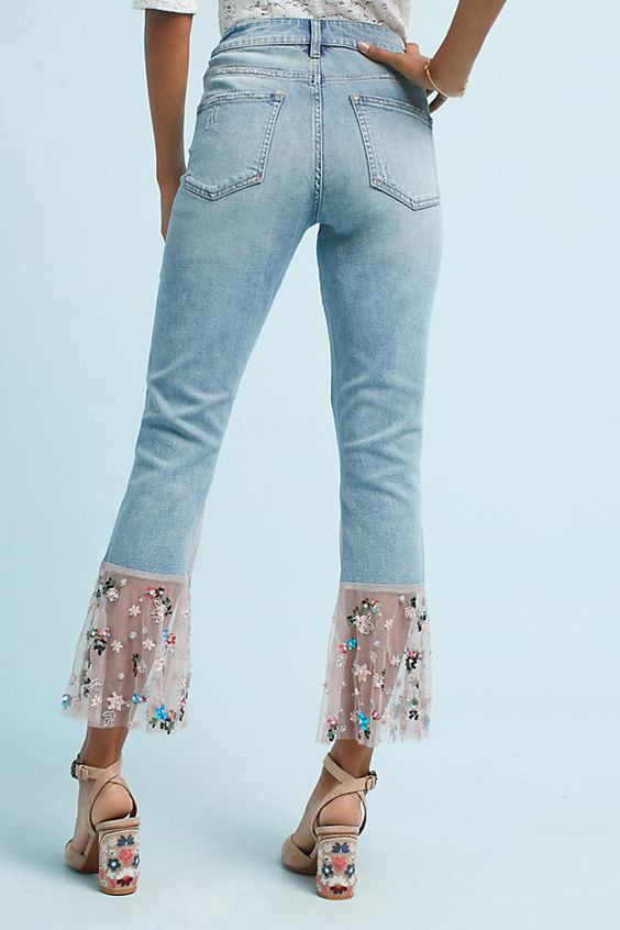 embroidered jeans cover