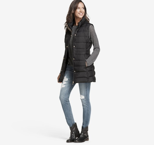 long quilted vest
