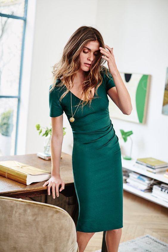 elegant emerald green dress