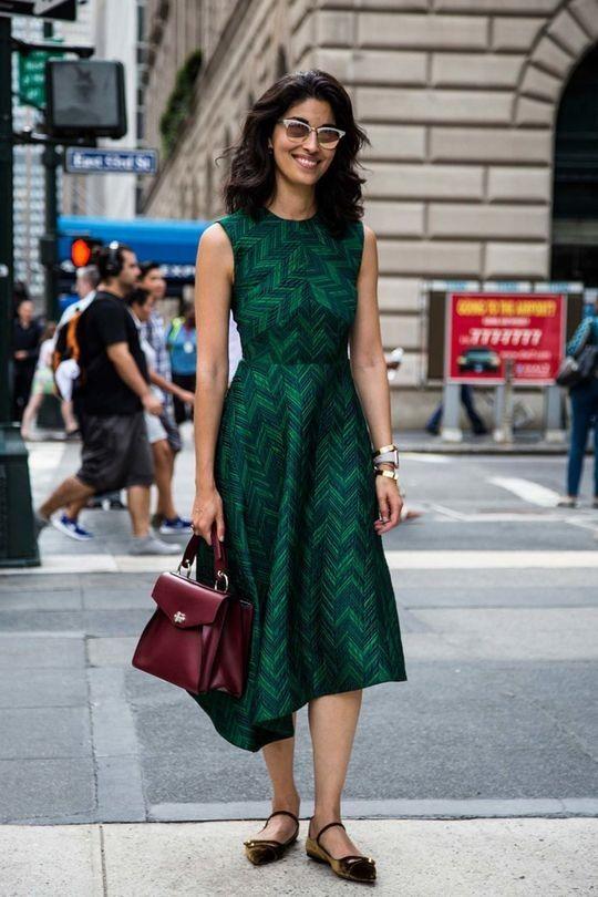asymmetrical emerald green dress
