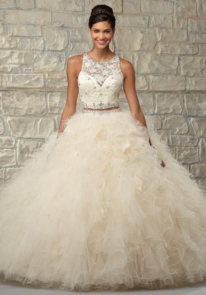 beige quinceanera dress elegant