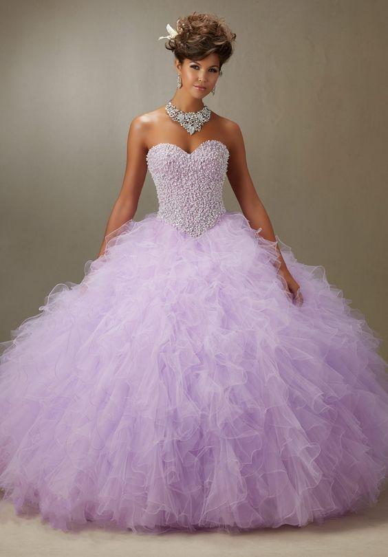 lavender quinceanera dress sparkling