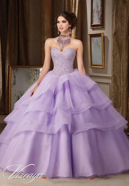 lavender quinceanera dress