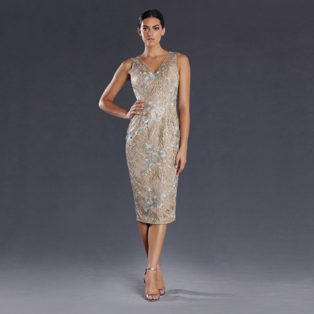 short beige silver mother of the bride dresses