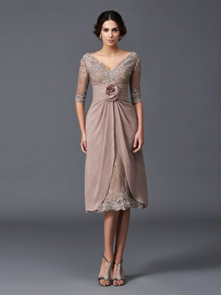 short soft pink mother of the bride dresses
