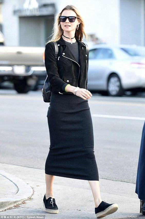 suede black bodycon dress