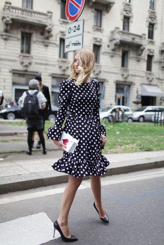 elegant polka dot dress