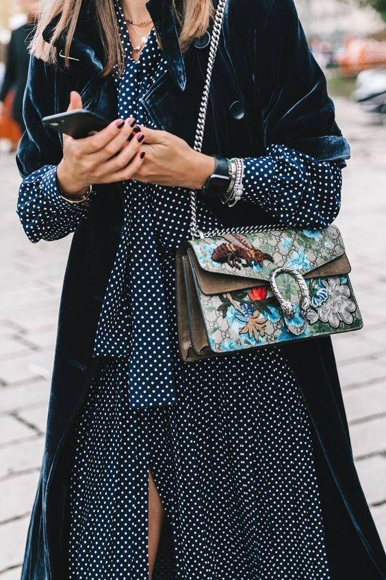 velvet gown polka dot dress