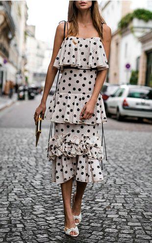 layered polka dot dress