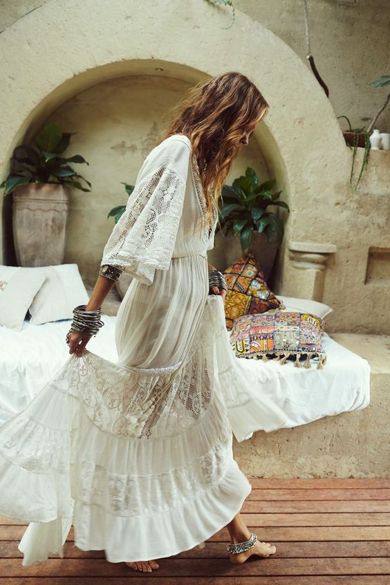 vintage white lace dress