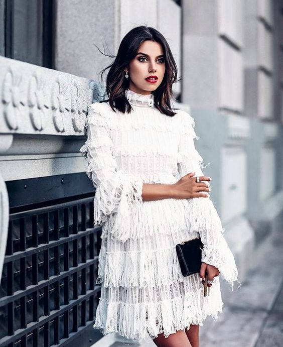 romantic gothic white lace dress
