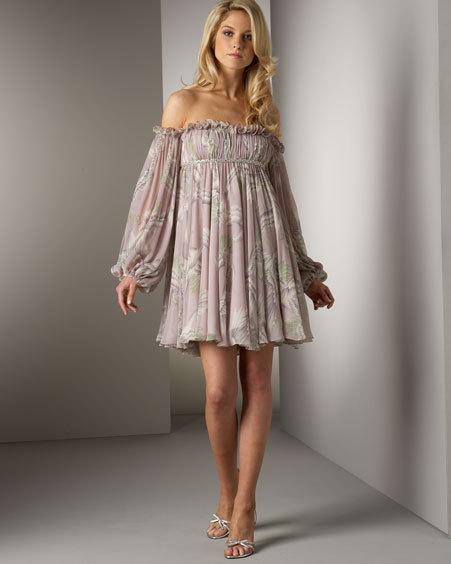 floral of the shoulder dress