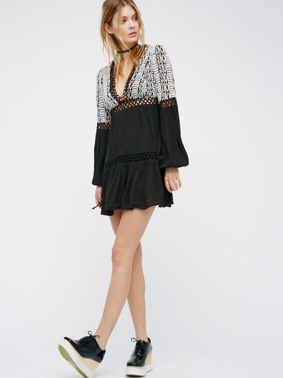 boho empire waist dress