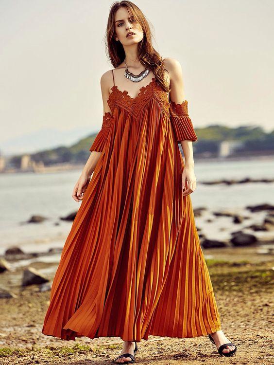 maxi of the shoulder dress