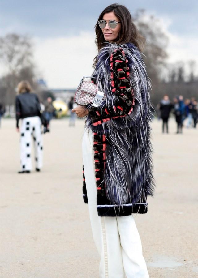 faux fur vest mix pattern