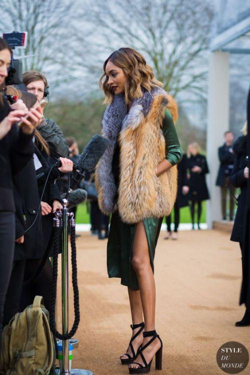 faux fur vest dress