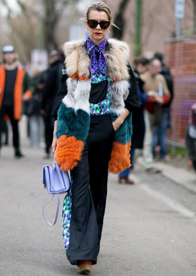 Faux fur vest colors