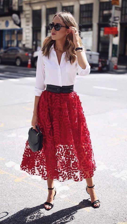 strawberry tulle skirt