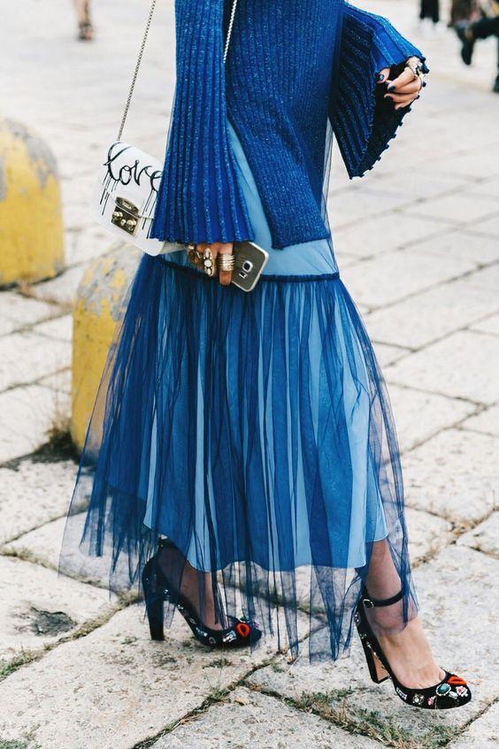 blue rhapsody tulle skirt