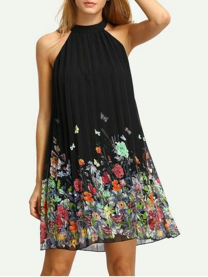floral pattern shift dress